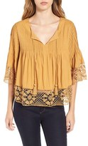 Tularosa Women's Pleated Woven Top