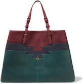 Jerome Dreyfuss Maurice Color-block Leather Tote - Claret