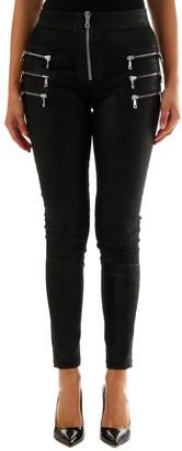 Taverniti So Ben Unravel Project Black Leather Trousers