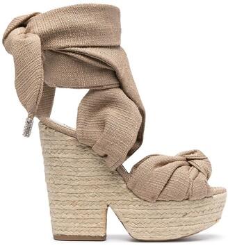 Alexandre Vauthier Leila wedge-heel sandals