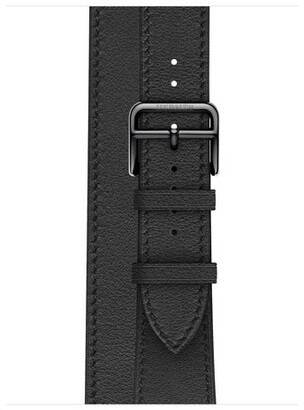 Apple Watch Herms - 40mm Noir Swift Leather Double Tour