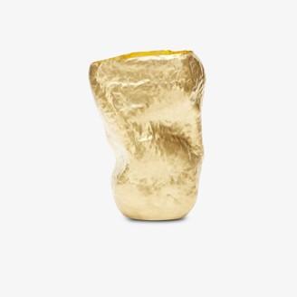 Tom Dixon gold tone Bash tall vessel