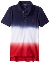 Polo Ralph Lauren Basic Mesh Ombre Top Boy's Short Sleeve Knit