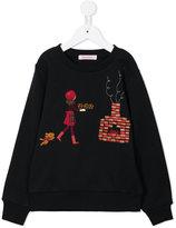 Familiar embroidered sweatshirt