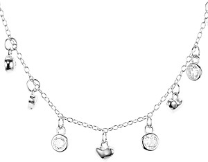 Argentovivo Heart Dangle Necklace, 16