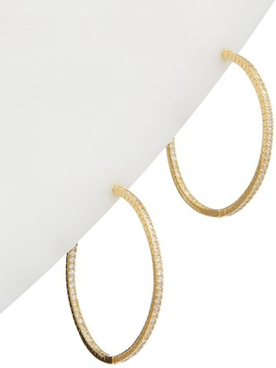 Alanna Bess Limited Collection 14K Over Silver Cz Classic Hoops