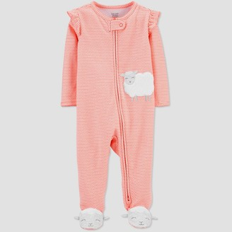 Carter's Baby Girls' Sheep One Piece Pajama - Just One You® made