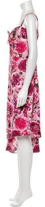 CARMEN MARCH Floral Print Midi Length Dress Pink