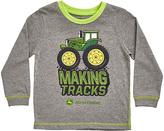 John Deere Heather Gray 'Making Tracks' Crewneck Tee - Infant & Toddler