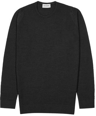 John Smedley 1Singular charcoal wool jumper