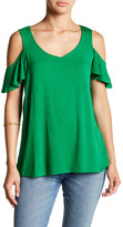 Joseph A Cold Shoulder V-Neck Blouse
