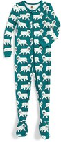 Tea Collection Infant Boy's Snow Monkey Fitted One-Piece Pajamas