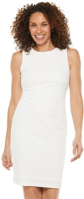 Chaps Women's Textured Ribbed Sheath Dress