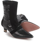 a. testoni Python Detail Ankle Boots - Leather (For Women)
