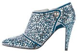Sergio Rossi Embellished Suede Booties