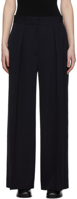 The Row Navy Avril Trousers