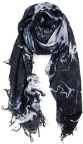 Chan Luu Tiedye Scarf In Black And Eggshell