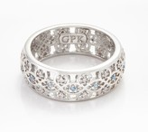 Scandinavian Grace Kelly Collection Silvertone Wedding Ring