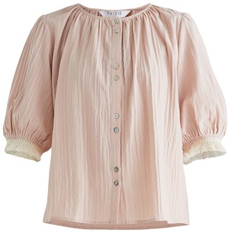 Paisie Chesil Blouse In Light Pink