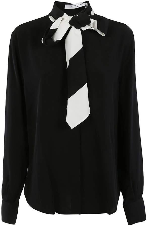 Givenchy Striped Collar Shirt