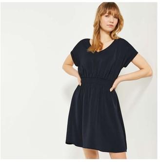 Joe Fresh Women's Smocked Waist Dress, JF Midnight Blue (Size M)