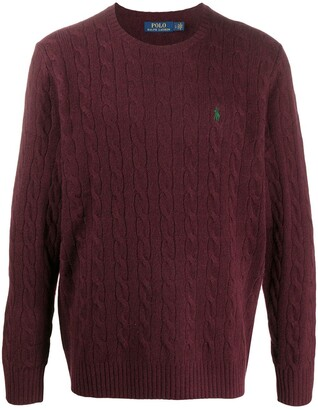 Polo Ralph Lauren Logo-Embroidered Cable Knit Jumper