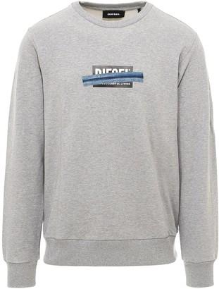 Diesel Logo Denim Tape Print Sweatshirt