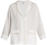 Carine Gilson Silk-satin pyjama top