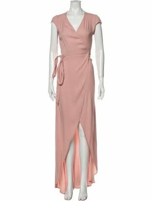 Reformation V-Neck Midi Length Dress Pink