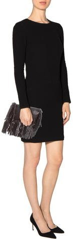 Figue Leather Fringed Pouch