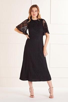 Yumi Black Lace Midi Dress