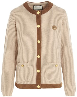 Gucci Contrast Trim Knitted Cardigan
