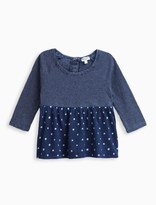 Splendid Baby Girl Indigo Print Top