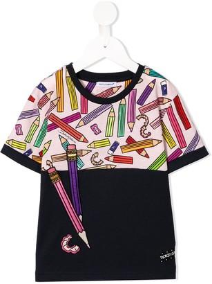 Dolce & Gabbana pencil print T-shirt