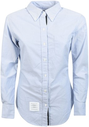 Thom Browne Classic Long-sleeve Button Down Point Collar Shirt