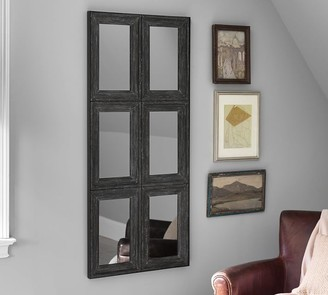 Pottery Barn Aiden Large Wall Mirror - Charcoal