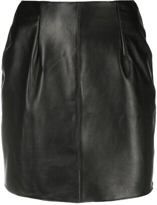 Something Wicked Mia leather mini skirt