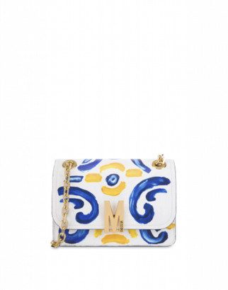 Moschino Majolica Shoulder Bag Woman White Size U It - (one Size Us)