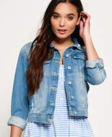Light Blue Cropped Jacket - ShopStyle