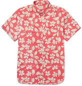 J.Crew Button-down Collar Floral-print Cotton Shirt - Red