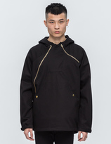 Black Scale Asymmetrical Technical Jacket