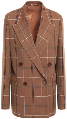 Acne Studios Double-breasted Checked Wool And Cotton-blend Blazer