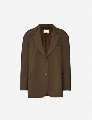 Frankie Shop Bea oversized single-breasted woven blazer