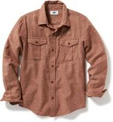 Old Navy Heathered Flannel Shirt for Boys