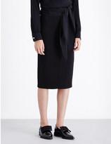 Victoria Beckham Fitted silk and wool-blend pencil skirt