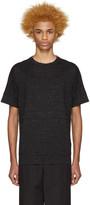 Helmut Lang Black Seamed T-Shirt
