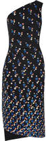 Peter Pilotto Cadi One-shoulder Printed Crepe Dress - Midnight blue