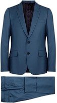Paul Smith Soho Blue Wool Travel Suit