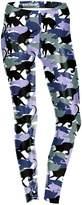 RitaMiska Rita.MK Women's Camouflage Cats Printing Fitness Pants Work-out Leggings