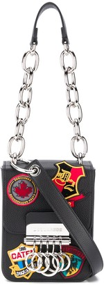 DSQUARED2 Keychain Patch Shoulder Ring